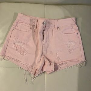 Pacsun Pink High Rise Shorts